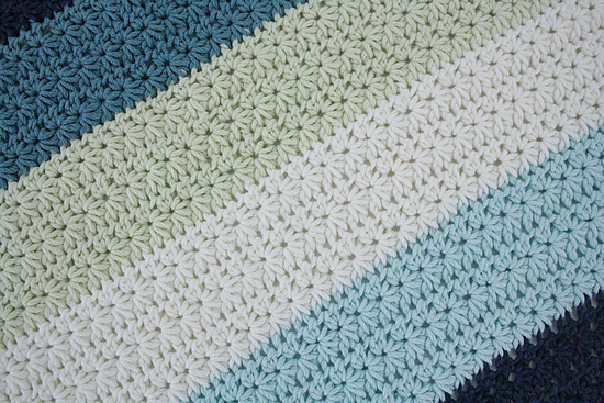 Crochet baby blanket, crochet stroller blanket (Joolz blanket) | Happy in Red