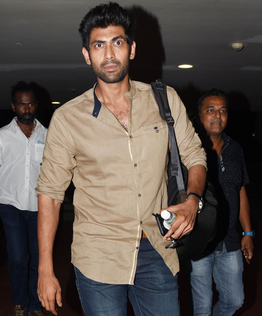 Actor Rana Daggubati Spotted at Mumbai Airport