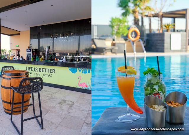 Azure pool and lounge in Pullman Hotel Dubai