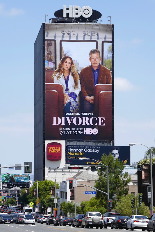 Giant Divorce season 3 billboard Sunset Strip