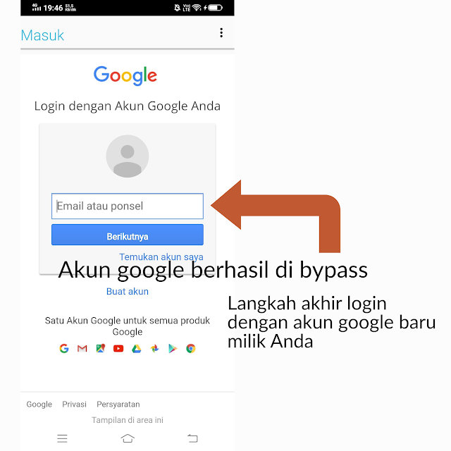 Verifikasi Reset Pabrik Android  Karena Lupa Akun Google ( FRP LOCK )
