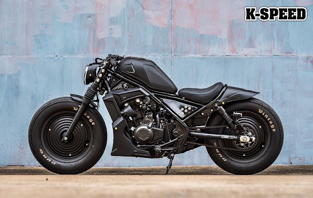 Honda Rebel 500 By K-Speed Hell Kustom