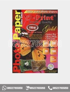 Kertas Photo Silky Gold A4 260gsm, alat tulis sekolah, 0852-2765-5050