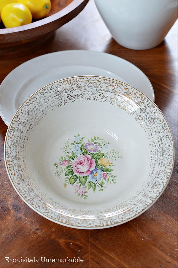 American Limoges ROSALIE Triumph Bowl on table