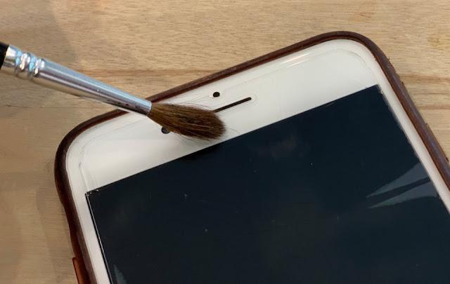 Soft brush for speaker cleaning