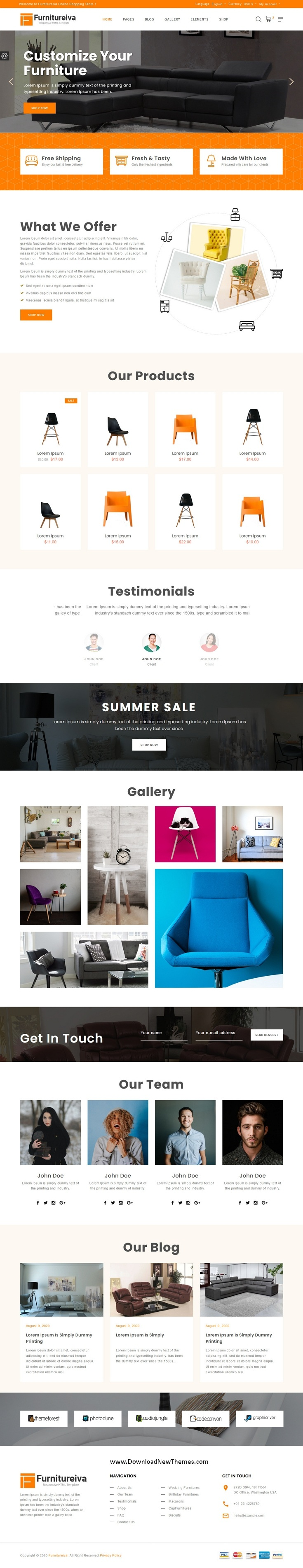 Responsive Furniture HTML Template