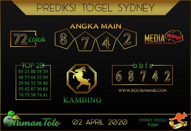Prediksi Togel SYDNEY TAMAN TOTO 02 APRIL 2020
