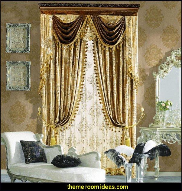 luxury curtains boudoir bedrooms window treatments curtains drapes window decorations