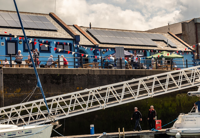 Photo of Maryport Marina flying bunting for the open day