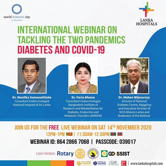 FREE live International Webinar on tackling Diabetes & COVID-19