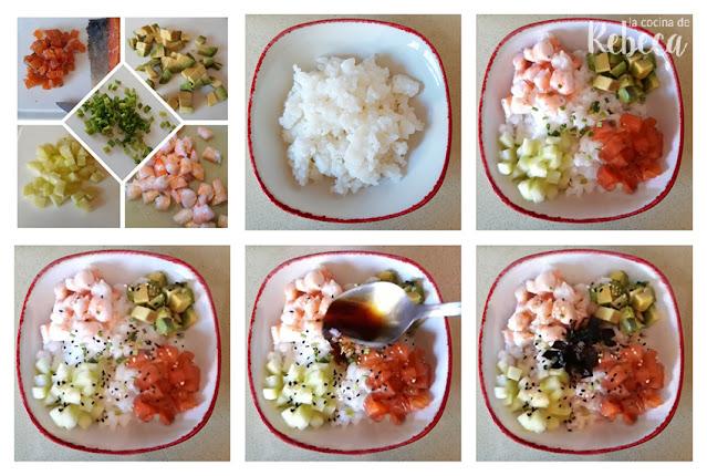 Receta de sushi bol