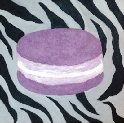 Painting of French macaroon
