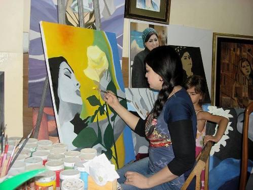 حوار صحفي مع الفنانة التشكيلية العراقية