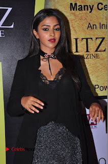 Actress Amala Paul Stills in Black Dress at South Scope Lifestyle Awards 2016 Red Carpet  0089.JPG