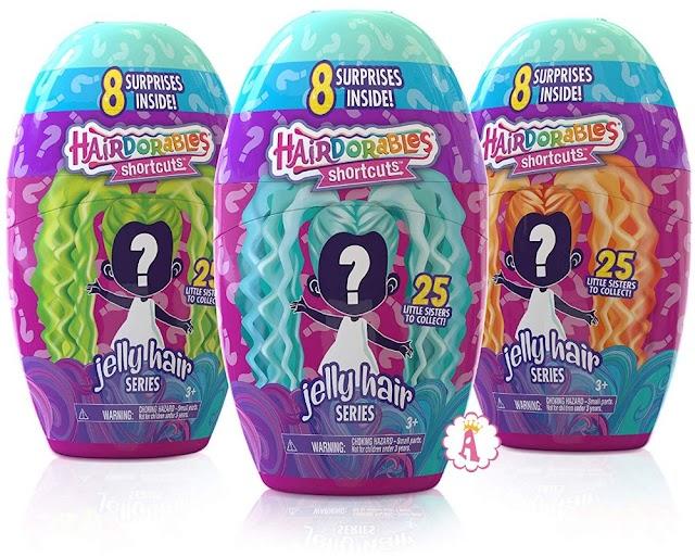 Малышки Hairdorables Shortcuts Jelly Hair серия 2: новая коллекция кукол с желейными волосами