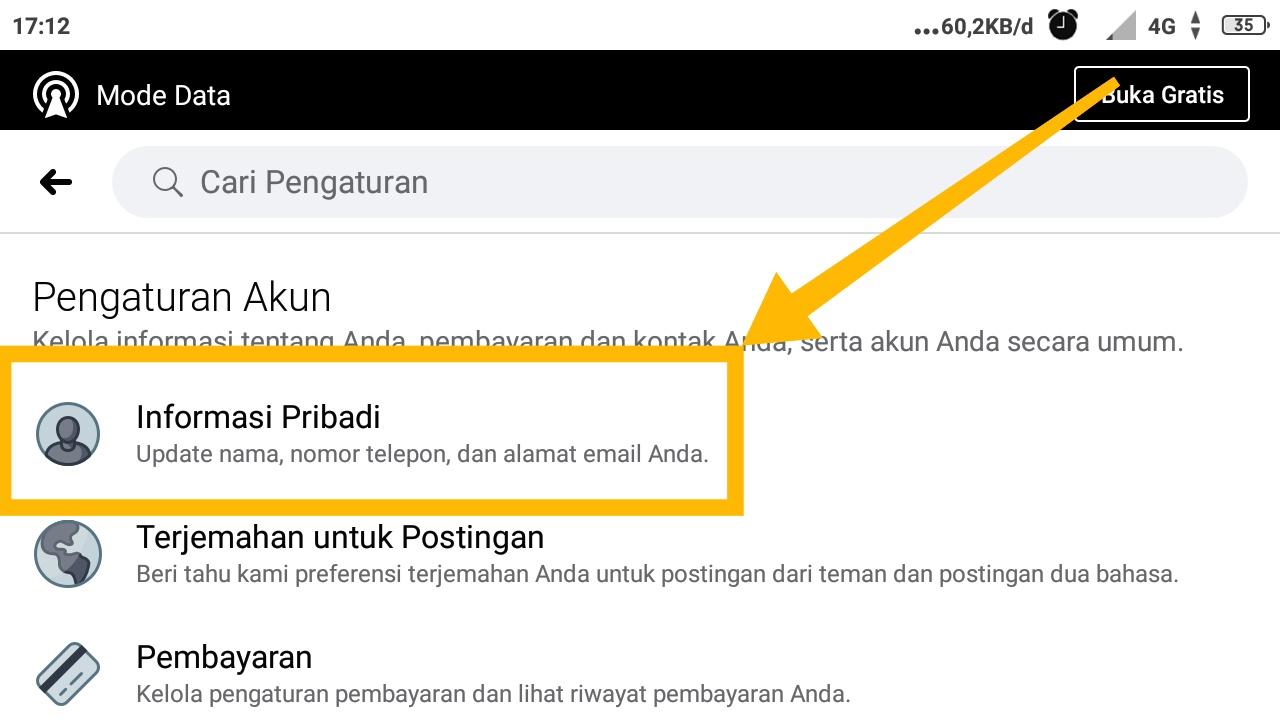 cara mengetahui email fb orang lain lewat android