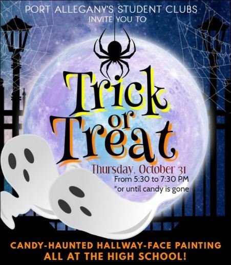 10-31 Trick or Treat, Port A. High School