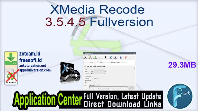 XMedia Recode 3.5.4.5 Fullversion