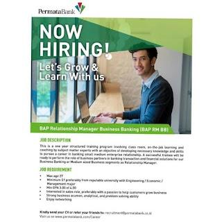 BAP Relationship Manager Business Banking Bank Permata