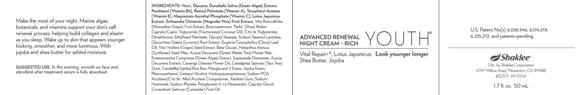 Youth Advance Renewal Night Cream rich