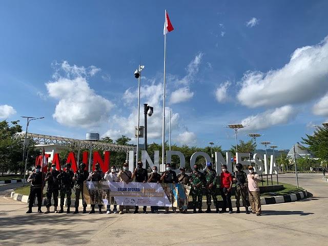 Jaga Keamanan Batas Negara, Pos Satgas Pamtas Yonif 742/SWY Gelar Patroli Gabungan Lintas Instansi.