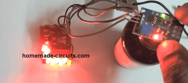 prototype image of alcohol detector meter circuit using MQ-3