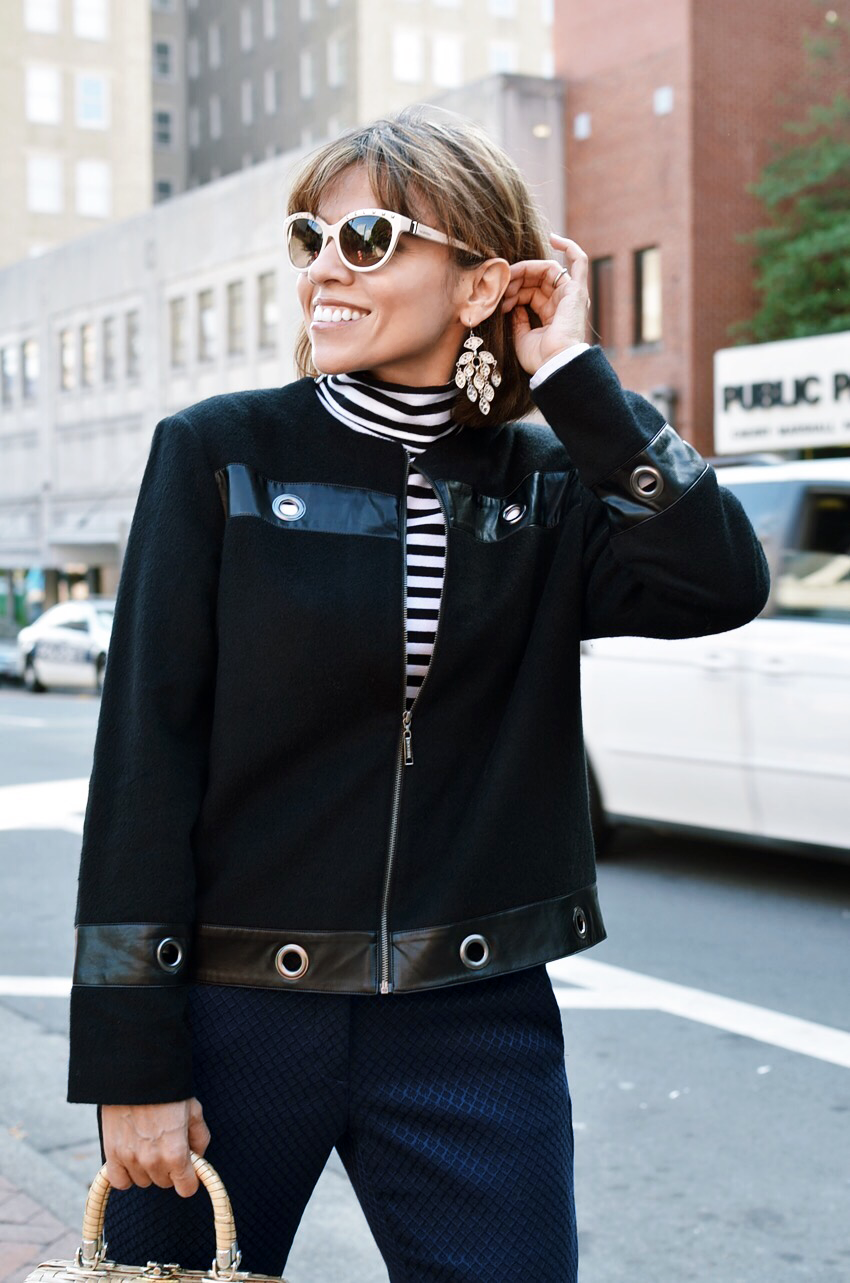 Jacket With Grommets Street Style
