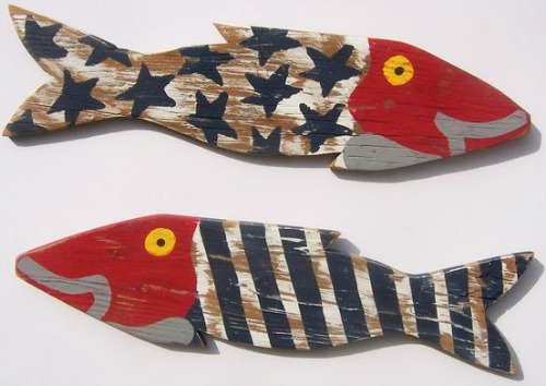 Marvelous Nautical Fence Fish