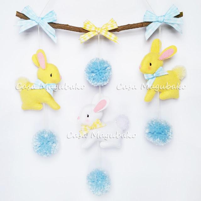 Bunny Wall Haning - Boy Version by casamagubako.com