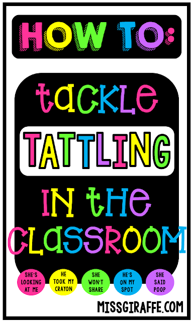 Do your students tattle?? Read these GREAT tips to stop tattling in your classroom - from fun tattling vs reporting activities to classroom management strategies using tissues.. save these tips!