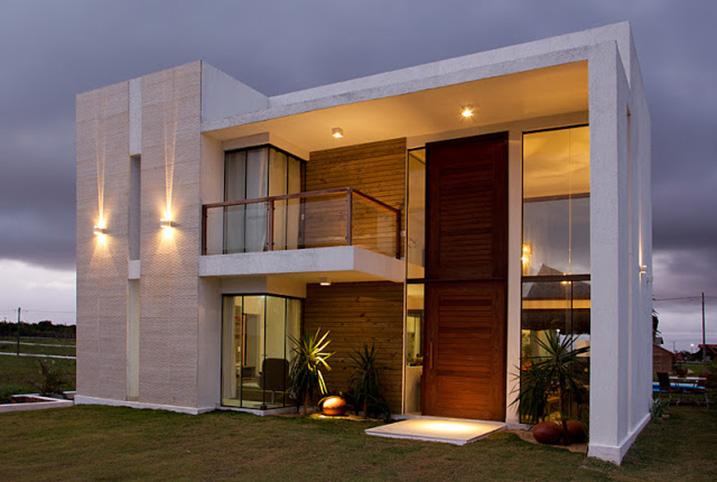 Construindo minha casa clean fachadas de casas revestidas for Fachadas de casas ultramodernas