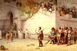 Imagen del Circo romano, que aclama a los gladiadores que van a morir