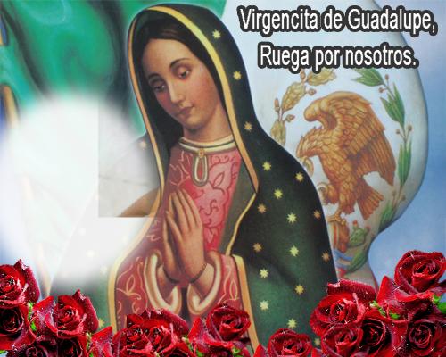 Virgencita de Guadalupe con tu foto