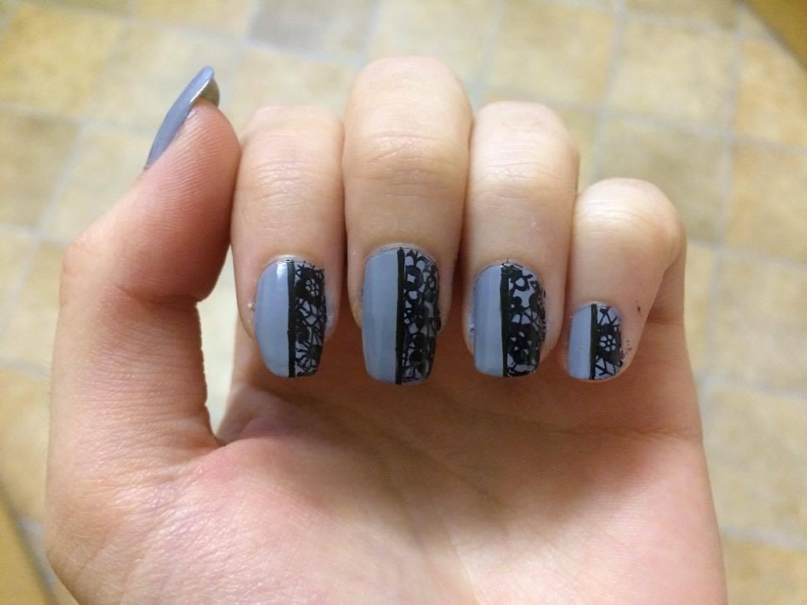 Grey Half And Nails