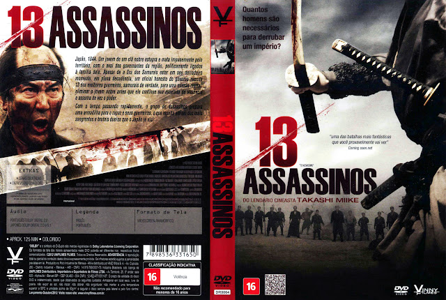 Capa DVD 13 ASSASSINOS