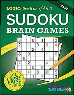 Easy Sudoku Brain Games - A Sudoku Puzzle Book by Chris T. Saldrick - book promotion sites