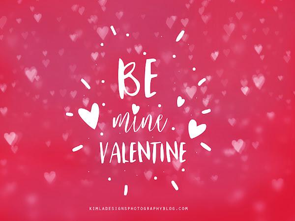 Freebie Friday - Be Mine Valentine Photo Overlay for Photographers