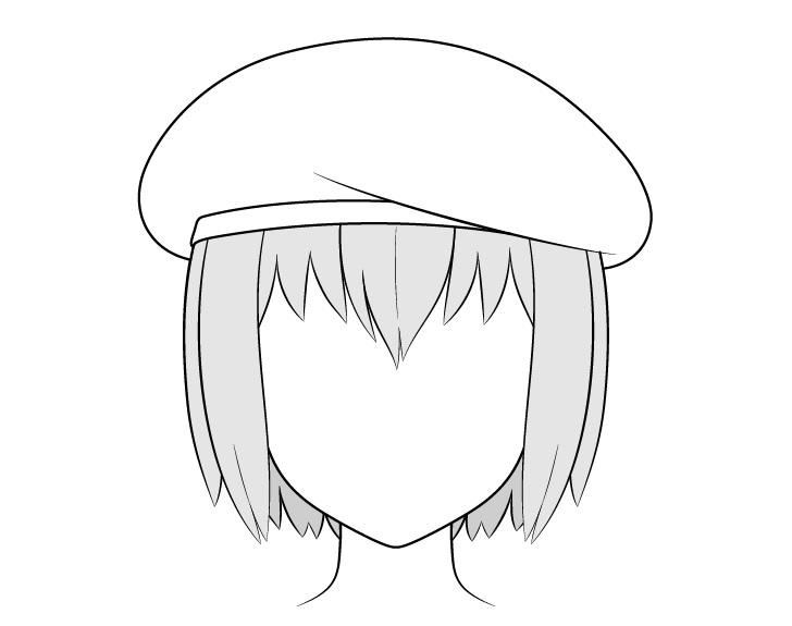 Menggambar baret anime