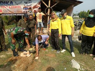 Camat Rantau Utara Hadiri Peletakan Batu Pertama Poskamling