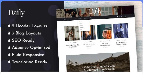 Daily Theme Wordpress Premium