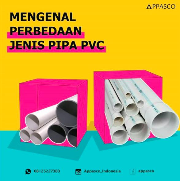 Perbedaan Jenis pipa PVC