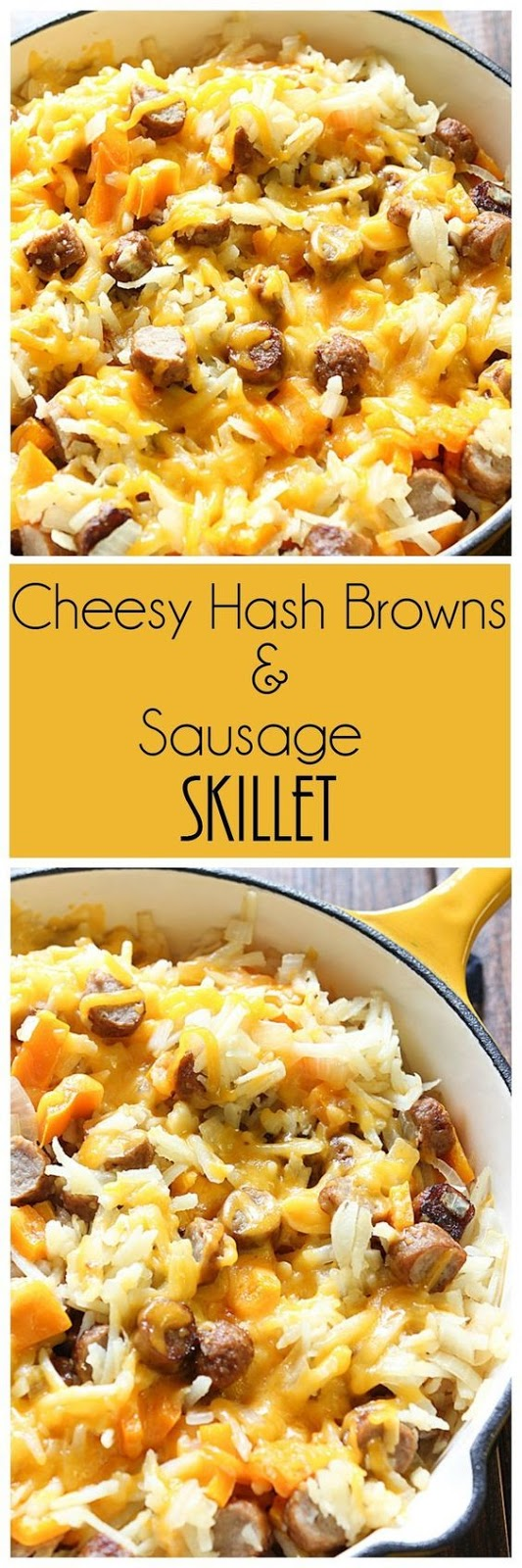 Easy Cheesy Hash Browns and Sausage Skillet