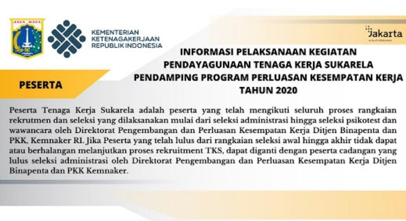 Lowongan Kerja TKS Kementerian Ketenagakerjaan RI Mei  Lowongan Kerja TKS Kementerian Ketenagakerjaan RI Mei 2020