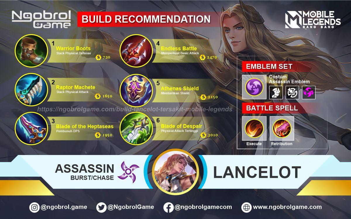 Build Lancelot Savage Mobile Legends