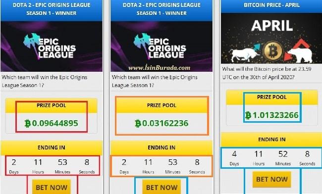 Free Bitcoin Betting Menüsü