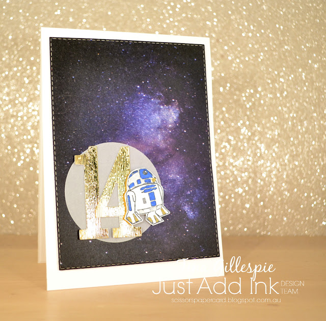 scissorspapercard, Stampin' Up!, Kindred Stamps, Altenew, Galactic Adventures: The Sequel, Itty Bitty Sentiments, Galaxy Washi Tape, Large Numbers