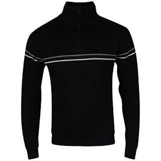 Cutting Edge Men's Wiltshire Half Zip Neck Knit - Black