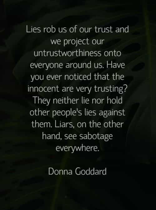 Lying lies sayings about and 20 Eye