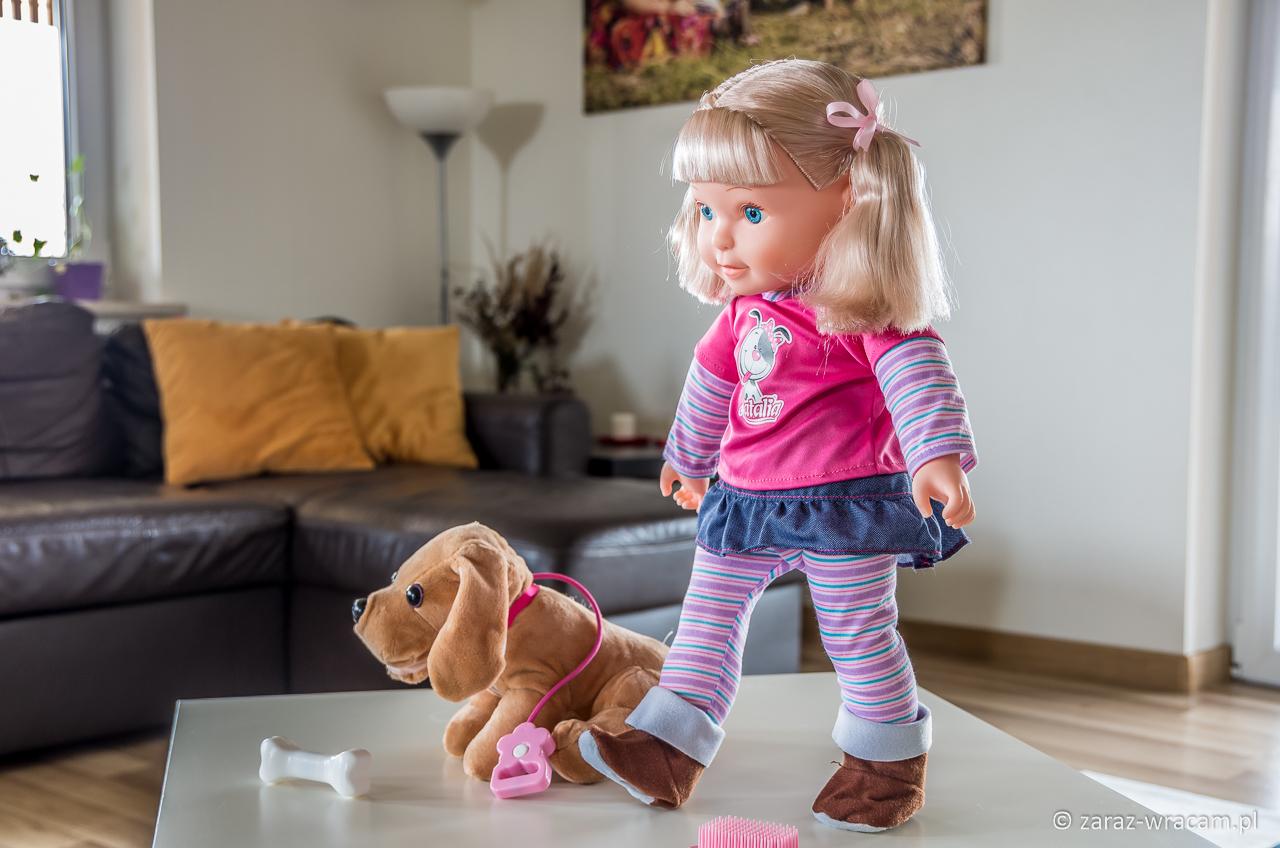 Lalka Natalia z pieskiem