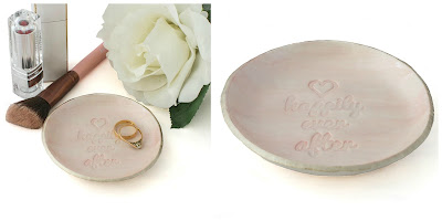 Pink Ring Dish Happily Ever After New at Lottie Of London Jewellery